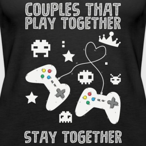 Couples that play game together - Women's Premium Tank Top