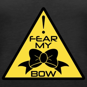 CheerleaderCollection Fear My Bow Multicolor - Frauen Premium Tank Top