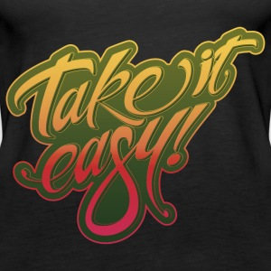 Take it easy yellow-red - Women's Premium Tank Top