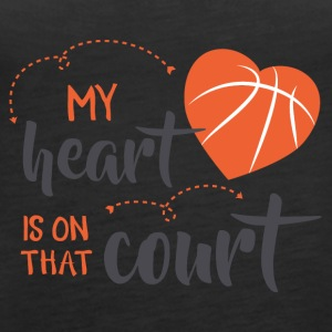 my heart is on court did - Women's Premium Tank Top
