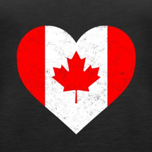 Canada Flag Shirt Heart - Canadian Shirt - Women's Premium Tank Top