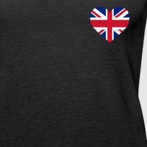 UK Flag Shirt Heart - Brittish Shirt - Women's Premium Tank Top