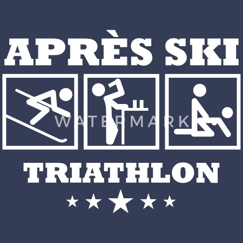 apres ski triathlon apreski shirts gestalten von rodriges spreadshirt. Black Bedroom Furniture Sets. Home Design Ideas