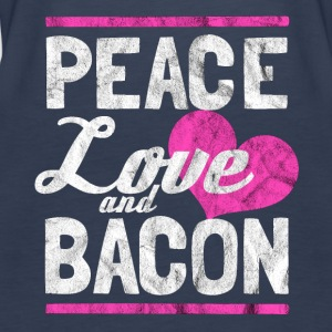Peace, Love og Bacon - Gift - Premium singlet for kvinner