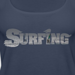 surfing Photofont - Premium singlet for kvinner