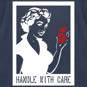 Handle with care in white - Women's Premium Tank Top