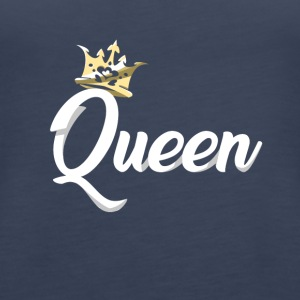 Queen Crown Royal Matching Couples Designs - Women's Premium Tank Top