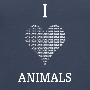 I LOVE ANIMALS - Frauen Premium Tank Top