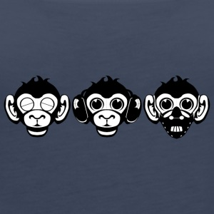 Three Wise Monkeys - Women's Premium Tank Top
