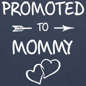 Promoted To Mommy, pregnancy, becoming mum - Women's Premium Tank Top