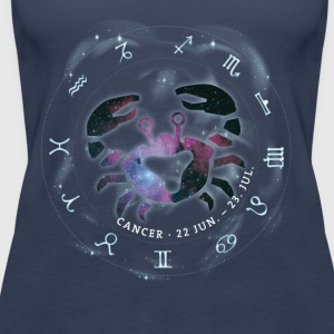 cancer Cancer Horoscope June birthday icon - Women's Premium Tank Top