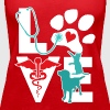 Veterinarian Love Cat and Dog Veterinary T Shirt - Women's Premium Tank Top