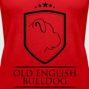 OLD ENGLISH BULLDOG COAT OF ARMS - Women's Premium Tank Top