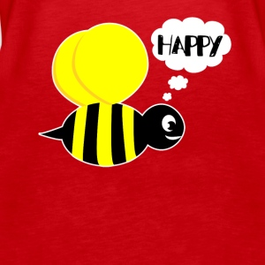 Be happy happiness christmas gift bee flying - Women's Premium Tank Top