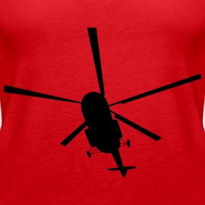 helikopter - Premium singlet for kvinner