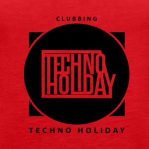 logo_techno_holiday_2017_negro1 - Vrouwen Premium tank top