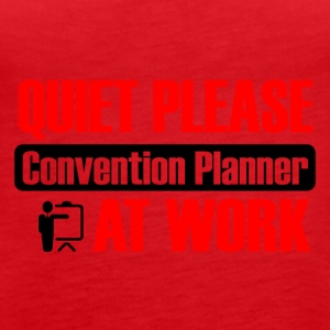 Quietly please convention planner at work - Women's Premium Tank Top