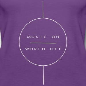 Music on - Women's Premium Tank Top