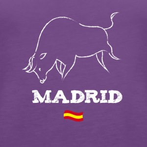 Madrid bull bull fight flag trip lol trip - Women's Premium Tank Top