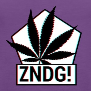 Ignition! ZNDG! cannabis leaf - Women's Premium Tank Top