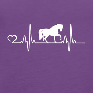 Horse - Heartbeat - Women's Premium Tank Top