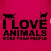 I Love Animals - Women's Premium Tank Top
