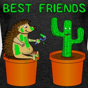 Hedgehog and Katus - Best friends - Women's Premium Tank Top