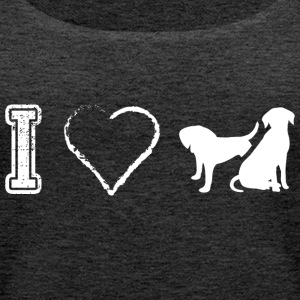 I love Hund Hunde Dog Dogs - Frauen Premium Tank Top