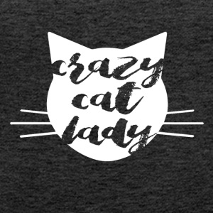 Crazy Cat Woman - Women's Premium Tank Top