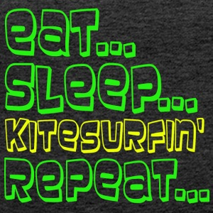 EAT SLEEP KITESURFING REPEAT - Women's Premium Tank Top