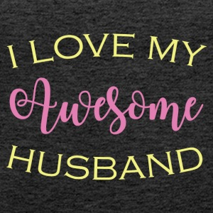 AWESOME HUSBAND - Naisten premium hihaton toppi