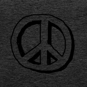 Peace hippie logo - Women's Premium Tank Top