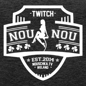 Nouschkasplay Team logo Twitch White_01 - Women's Premium Tank Top