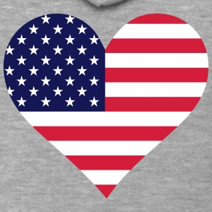 A Heart For America - Men's Premium Hooded Jacket