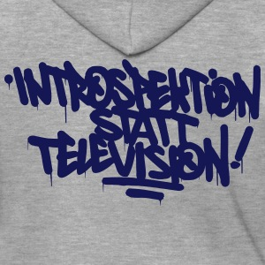 Introspection instead Television - Men's Premium Hooded Jacket
