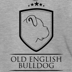 OLD ENGLISH BULLDOG COAT OF ARMS - Men's Premium Hooded Jacket
