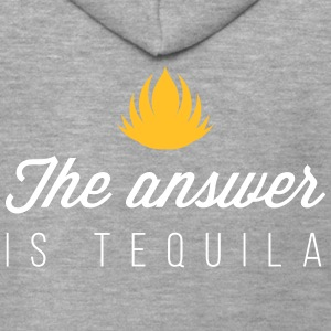 The Answer Is Tequila - Men's Premium Hooded Jacket