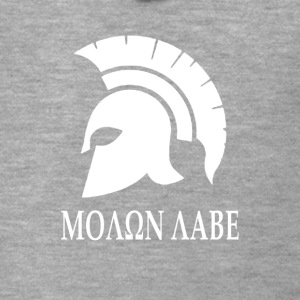 Molon labe Sparta Spartan helmet gift battle - Men's Premium Hooded Jacket