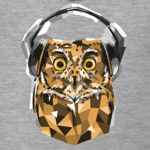 Animal Life Owl Who Musical Owl with Headphones - Men's Premium Hooded Jacket