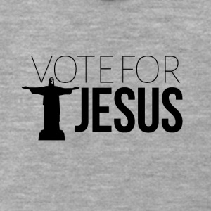 Vote for JESUS - Men's Premium Hooded Jacket