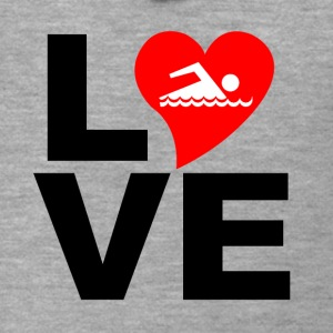 Love swimming - Men's Premium Hooded Jacket