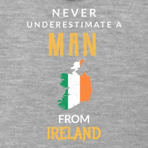Never underestimate a Man from Ireland! - Men's Premium Hooded Jacket