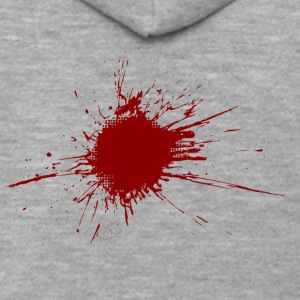 Blood Spatter From A Bullet Wound - Men's Premium Hooded Jacket