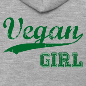 Vegan Girl Gift Idea Birthday T-Shirt Love - Men's Premium Hooded Jacket