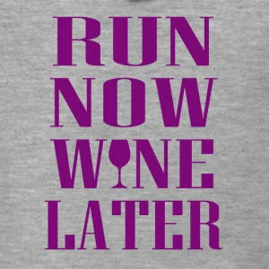 Run now Wine later - Men's Premium Hooded Jacket