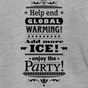 Stop Global Warming Cocktail Party Climate Change Eco - Men's Premium Hooded Jacket