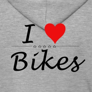 I Love Bikes - Premium Hettejakke for menn