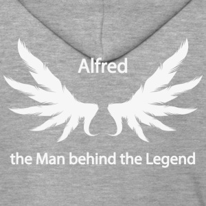 Alfred the Man behind the Legend - Men's Premium Hooded Jacket