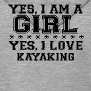 yes gift on a girl love bday gift KAYAKING - Men's Premium Hooded Jacket