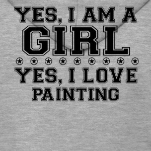 yes gift on a girl love bday gift PAINTING - Men's Premium Hooded Jacket